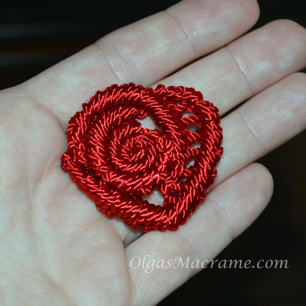 macrame heart rose tutorial