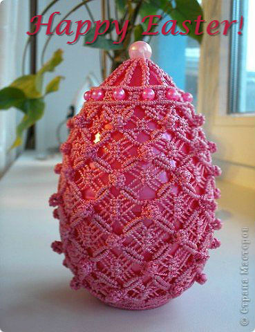 macrame easter egg