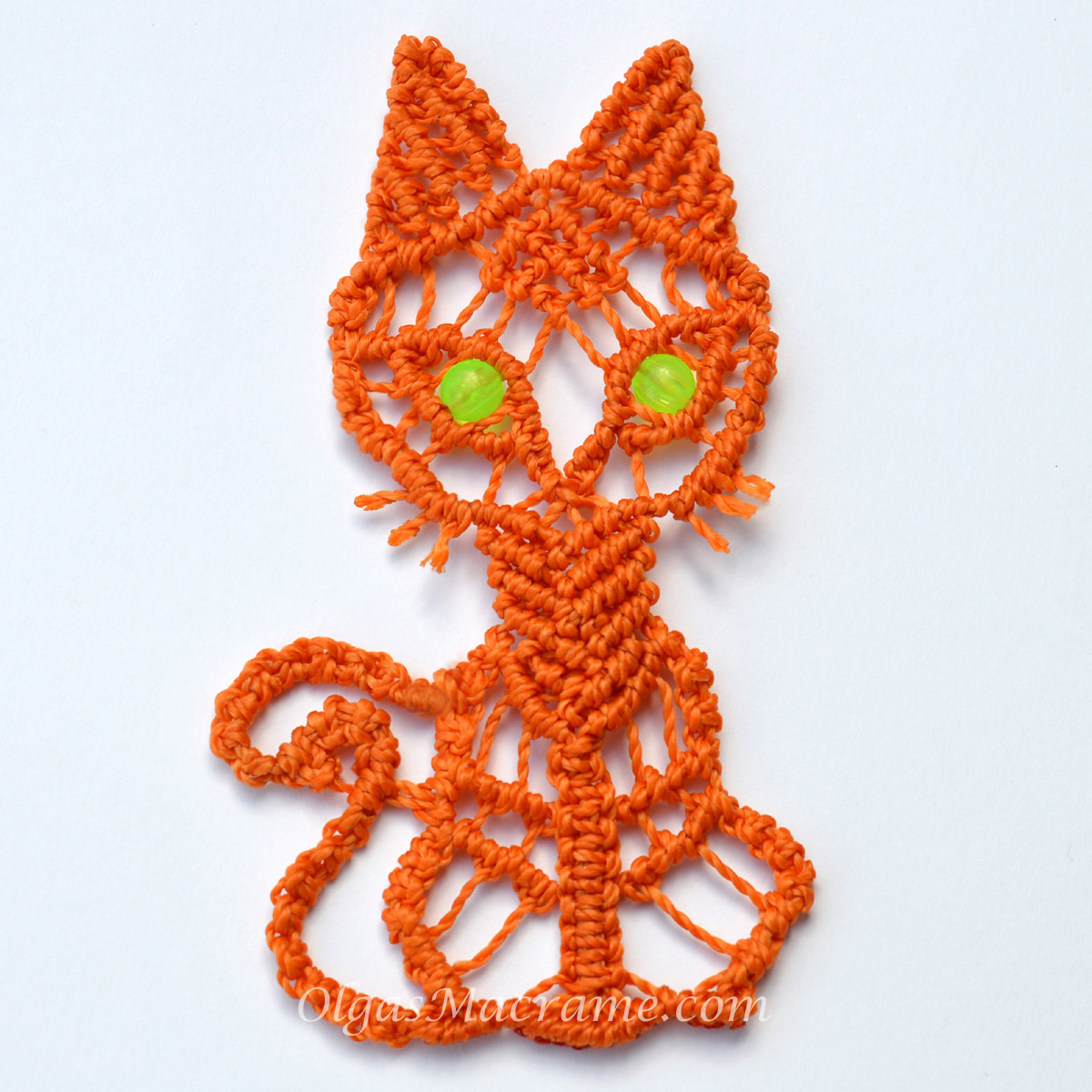 macrame kitty instructions