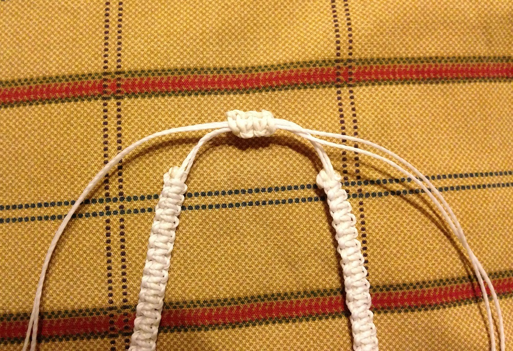 macrame necklace closure