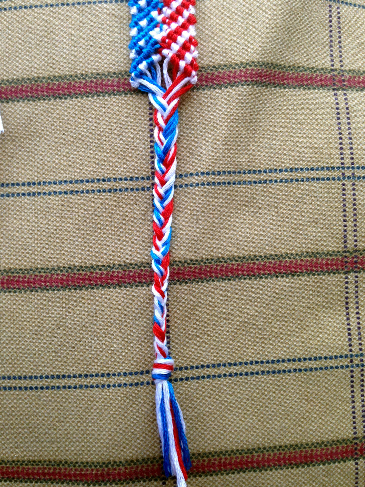 macrame 4th of july bracelet how to