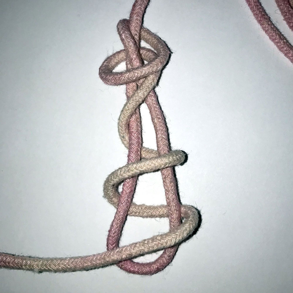 macrame barrel knot