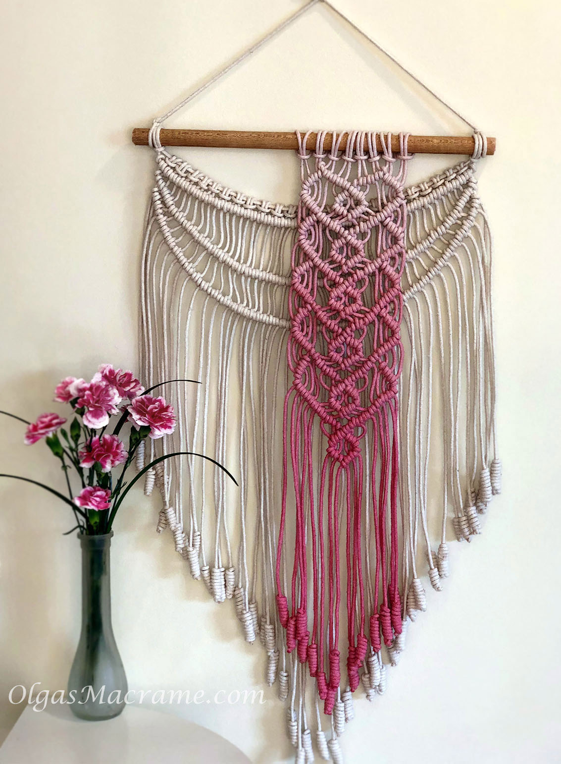 macrame wall hanging hearts
