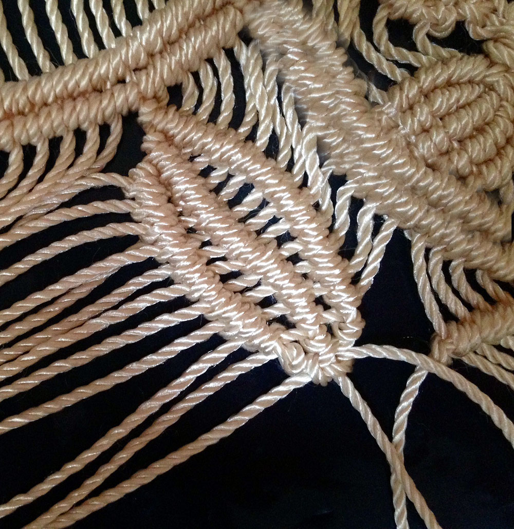 macrame leave tutorial